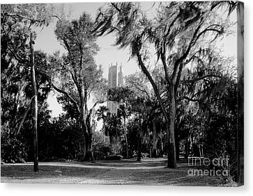 Ghostly Bok Tower Canvas Print by David Lee Thompson