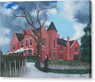 Ghostly Nun Of Borley Rectory Canvas Print by Barbara Barber