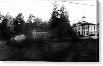 Ghostly Potter School House For Filming Movie The Birds By Alfred Hitchocck  Canvas Print