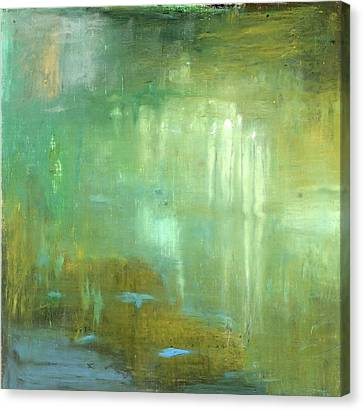 Canvas Print featuring the painting Ghosts In The Water by Michal Mitak Mahgerefteh