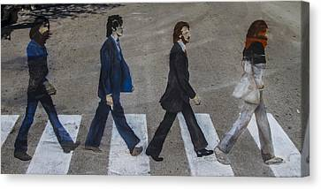 Ghosts Of Abby Road Canvas Print by Debra and Dave Vanderlaan