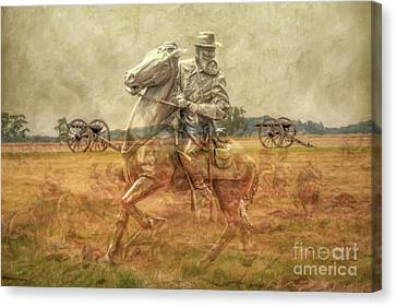 Ghosts Of Gettysburg II Canvas Print by Randy Steele