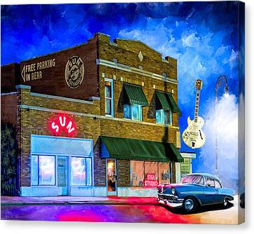 Ghosts Of Memphis - Sun Studio Canvas Print by Mark Tisdale