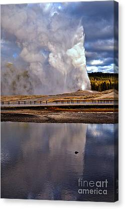 Ghosts Of Old Faithful Canvas Print by Adam Jewell