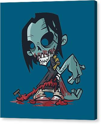 Ghoul T-shirt Canvas Print
