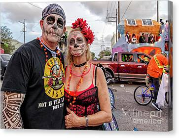 Canvas Print - Ghouls At Boo Parade New Orleans by Kathleen K Parker