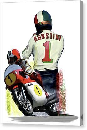 Giacomo Agostini  Ago Canvas Print by Iconic Images Art Gallery David Pucciarelli