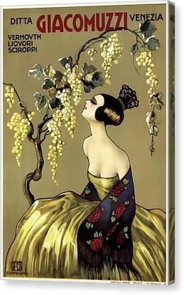 Giacomuzzi Italian Vintage Wine  C. 1900 Canvas Print by Daniel Hagerman