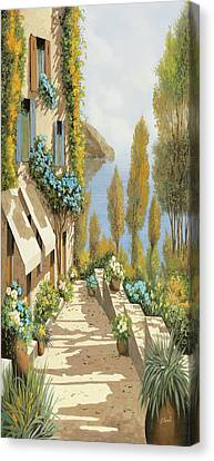 Blue Flowers Canvas Print - Gialloblugiallo by Guido Borelli