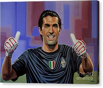 Gianluigi Buffon Painting Canvas Print by Paul Meijering