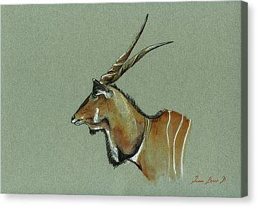 Giant Eland Canvas Print by Juan  Bosco