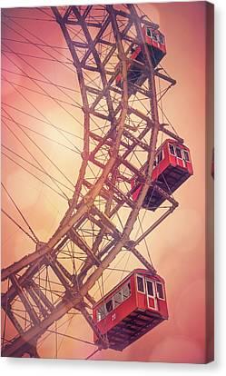 Giant Ferris Wheel Prater Park Vienna  Canvas Print