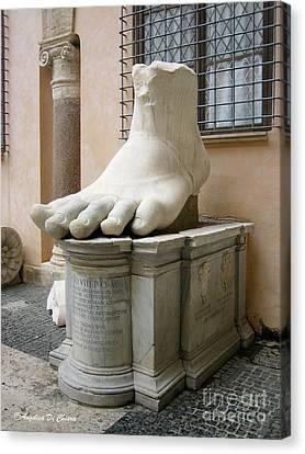 Giant Foot Canvas Print by Italian Art