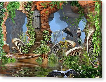 Giant Mushroom Forest Canvas Print