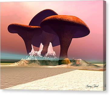 Giant Mushrooms Canvas Print by Corey Ford