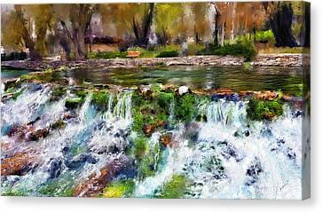 Giant Springs 1 Canvas Print by Susan Kinney