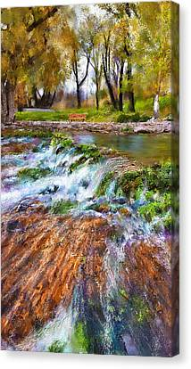 Giant Springs 2 Canvas Print by Susan Kinney