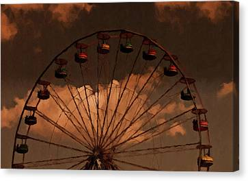 Canvas Print featuring the photograph Giant Wheel by David Dehner