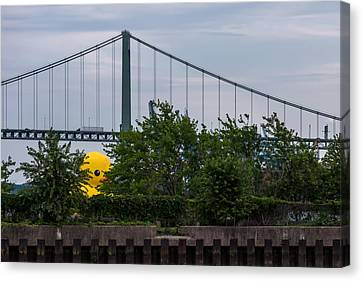 Giant Yellow Duck Walt Whitman Bridge Philly Canvas Print