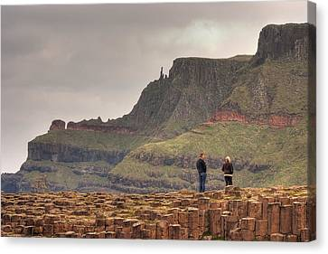 Canvas Print featuring the photograph Giants Causeway by Ian Middleton