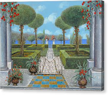 Giardino Italiano Canvas Print by Guido Borelli