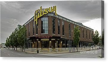Gibson Guitar Factory Memphis Tennessee Canvas Print by Willie Harper