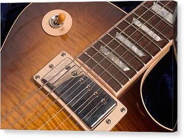 Gibson Les Paul Guitar By Gene Martin Canvas Print