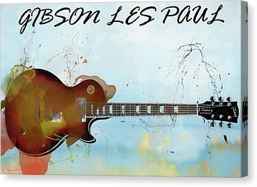 Gibson Les Paul Guitar Canvas Print by Dan Sproul