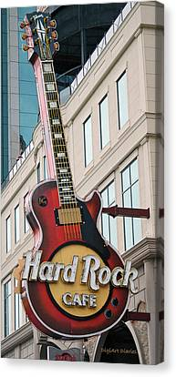 Gibson Les Paul Of The Hard Rock Cafe Canvas Print