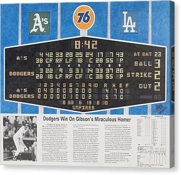 Gibson's 1988 World Series Homer Canvas Print