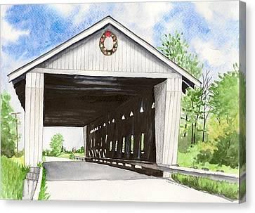 Giddings Road Bridge Canvas Print