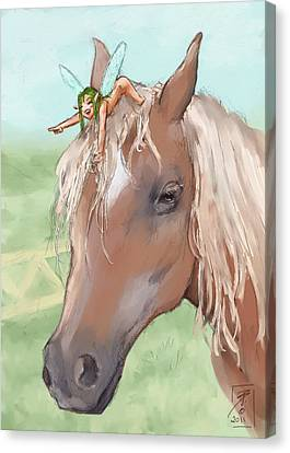 Giddy Up Canvas Print by Brandy Woods