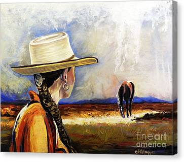 Bay Horse Canvas Print - Gift From God by Cat Culpepper