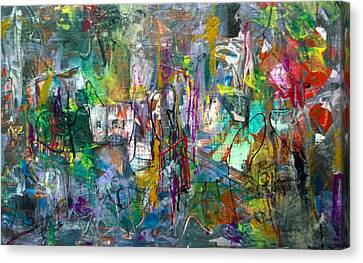 Canvas Print featuring the painting Gift From/to Oma by Robert Anderson