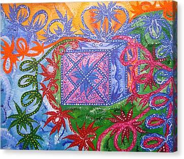 Gift Canvas Print by Joanna Pilatowicz