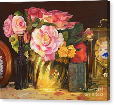 Canvas Print featuring the painting Gift Of Time by Marlene Book