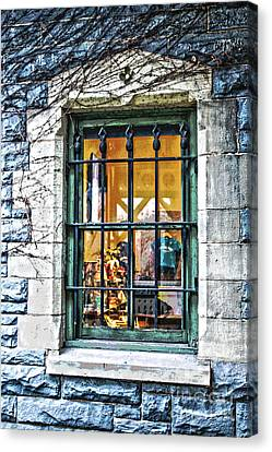Canvas Print featuring the photograph Gift Shop Window by Sandy Moulder