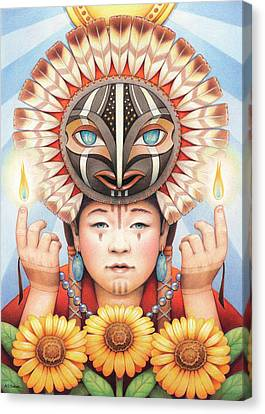 Gifts Of The Sun Spirit Canvas Print by Amy S Turner