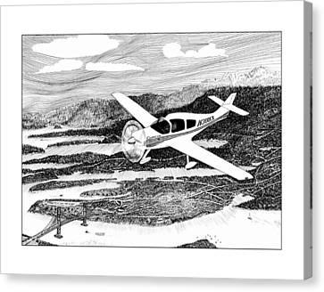 Gig Harbor Flyover Canvas Print by Jack Pumphrey