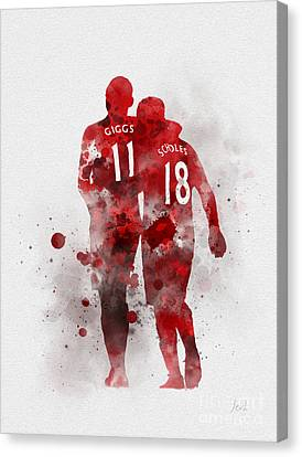 Giggsy And Scholesy Canvas Print by Rebecca Jenkins