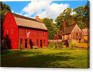 Old Mill Scenes Canvas Print - Gilbert Stuart Museum by Lourry Legarde
