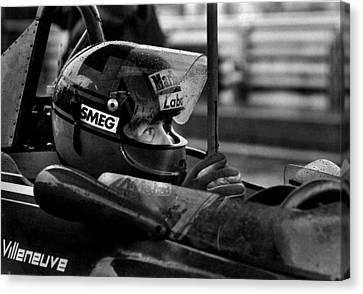 Canadian Grand Prix Canvas Print - Gilles Villeneuve 1950-1982 by Mike Flynn