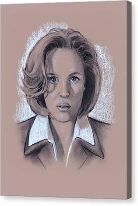 Gillian Anderson X Files Canvas Print by Joyce Geleynse