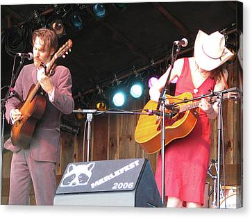 Gillian Welch And David Rawlings 01 Canvas Print by Julie Turner