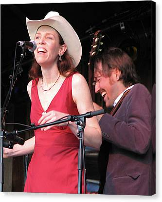Gillian Welch And David Rawlings 02 Canvas Print by Julie Turner