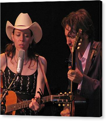 Gillian Welch And David Rawlings 03 Canvas Print by Julie Turner