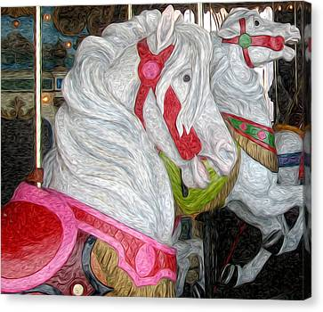 Gillians Carousel Horse Canvas Print by Kevin  Sherf