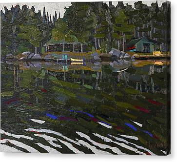 Canoe Canvas Print - Gilmour Island by Phil Chadwick