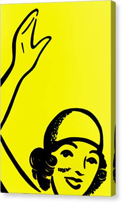 Gilr In Yellow Canvas Print by John Gusky