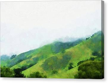 Mountain View Canvas Print - Gilroy Hills by Terry Davis